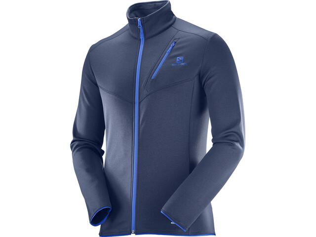 Salomon M's Discovery FZ Jacket Dress Blue